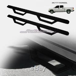 For 2001-2014 Silverado/Sierra Crew Matte Black Aluminum Modular Drop Step Bars