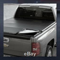 For 2004-2007 Silverado/Sierra Crew 5.8 Ft Short Bed Snap-On Vinyl Tonneau Cover