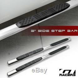 For 2007-2018 Silverado/Sierra Crew Cab 5 Chrome Side Step Bars Running Boards