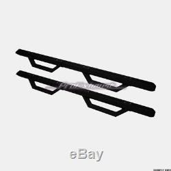 For 2007-2018 Silverado/Sierra Crew Matte Black Aluminum Modular Drop Step Bars