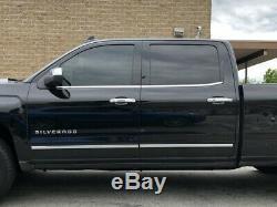 For 2014-2018 Silverado/Sierra Crew Cab Body Side Molding Trims Set 4PCS 1/18