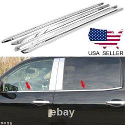 For 2015-2019 Chevy Silverado + GMC Sierra 2500HD Crew Cab Stainless Window Sill