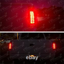 For 88-98 Chevy GMC C/K 1500 2500 3500 CHERRY RED Smoke LED Tail Light Lamp