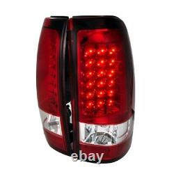 For 99-02 Chevy Silverado 99-06 Sierra Single Crew Truck LED Tail lights Red