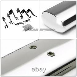 For 99-14 Chevy Silverado Crew 4 Oval Chrome Side Step Nerf Bar Running Board