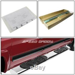 For 99-14 Chevy Silverado Crew 6chrome Oval Side Step Nerf Bar Running Board