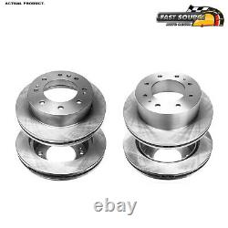 For Chevy Silverado 2500 HD 2011 2012 2013 Front And Rear Brake Disc Rotors