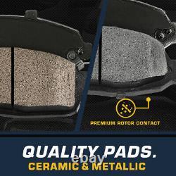 For Chevy Silverado Suburban Tahoe Express Sierra Front Rotors Metallic Pads