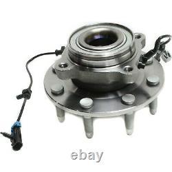 Front Wheel Bearing & Hub for 08-10 Chevy Silverado GMC Sierra 2500 HD 3500 4x4