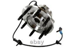 Front Wheel Hub Bearing Assembly Pair 2 for Chevy Silverado 2500 HD Hummer H2 V8