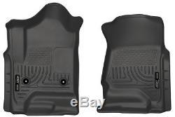 HUSKY WeatherBeater Floor Mats for Chevy Silverado GMC Sierra 4 Door CC EC 18231