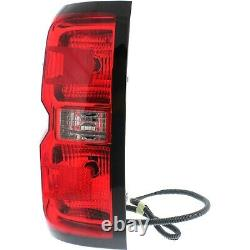 Halogen Tail Light For 2014-2015 Chevy Silverado 1500 Left Clear/Red with Bulbs