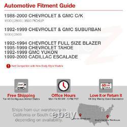 High-Power SMD Backup 1988-1998 Chevy GMC Silverado Sierra LED Red Tail Lights