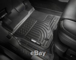 Husky Liner Weatherbeater 2014-2018 Chevy Silverado Crew Cab Floor Mats BLACK