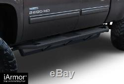 IArmor 6.5 Side Armor Square for 01-07 Chevy Silverado GMC Sierra Crew Cab