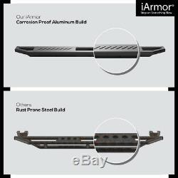 IArmor Aluminum Side Steps Armor Fit 07-18 Chevy Silverado/GMC Sierra Crew Cab