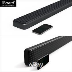 IBoard Running Boards 4 Black Fit 01-13 Chevy Silverado/GMC Sierra Crew Cab