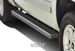 IBoard Running Boards 4 inches Fit 01-13 Chevy Silverado GMC Sierra Crew Cab
