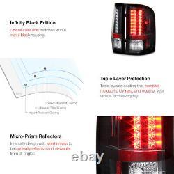 L+R LED Black Tail Light Signal Lamp For Chevy 07-14 Silverado WT/LT/LTZ Truck