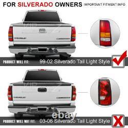 L+R LED Brake+Signal Black Tail Light Clear Reverse Backup Lamp 99-02 Silverado
