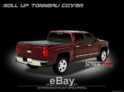 Lock & Roll Up Soft Tonneau Cover 14-17 18 Silverado/Sierra Truck 6.5 Ft 78 Bed