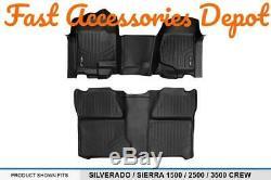 MAXFLOORMATS for 2007-2013 Silverado/Sierra 1500/2007-2014 2500/3500 HD Crew Cab