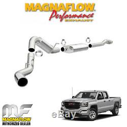 Magnaflow 4 Cat Back Exhaust 2014-2019 GMC Sierra 1500 6.2L V8 Crew Cab 5.7 Bed