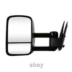 Manual Tow Side Mirror Pair for 2000-2006 Tahoe 1999-2006 Sierra Silverado 1500
