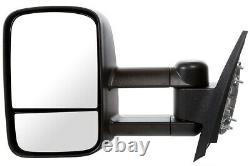 Manual Tow Side Mirror Pair for 2007-2013 Chevrolet Silverado GMC Sierra 1500