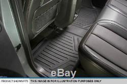 MaxLiner 2007-2013 Silverado/Sierra Crew Cab Rear Row Floor Mat Liner BLACK