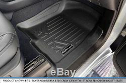 Maxliner Floor Mats Liner Set Black for 2019 Silverado/Sierra 1500 Crew Cab