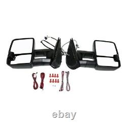 Mirrors Set of 2 Left-and-Right Heated for Chevy 25838267-PFM LH & RH GMC Pair