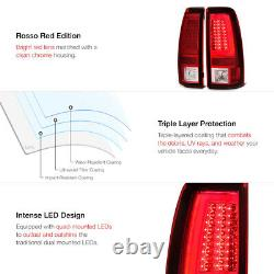 NEWEST OLED FIBER OPTIC 1999-2002 Chevy Silverado Red Tail Lights Brake Lamps