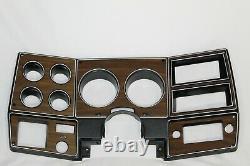 NEW 73-80 chevy GMC pickup truck dash bezel gauge cluster cover woodgrain plate