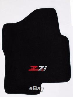 NEW! BLACK Floor Mats 2007-2013 GMC Silverado Embroidered Z71 Logo Crew Cab 3pc