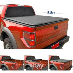 New 5.8 Ft 68 Bed Soft Roll & Lock Tonneau Cover for Silverado Crew Cab 2004-06