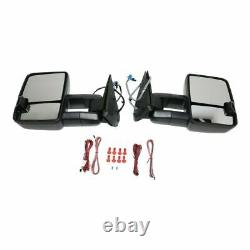New Set of 2 Power Mirrors with Smoke Signal for Chevy Silverado 1500 2003-2006