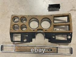 Original GM 75-77 Woodgrain Chevy GMC pickup truck dash bezel & passenger plate