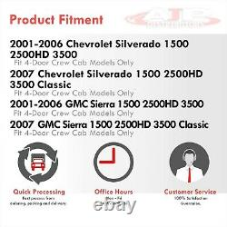 Outer Slip On Rocker Panels For 2001-2007 Chevy Silverado / Sierra 1500 Crew Cab