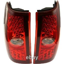 Pair LED Tail Light for 99-06 Chevrolet Silverado 1500 LH RH Red/Clear Lens