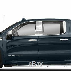 Pillar Post Covers for 2019-2020 GMC Sierra 1500 Crew Cab Stainless Set 8