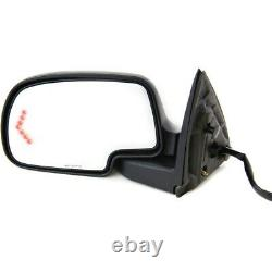 Power Mirror For 1999-2006 Chevrolet Silverado 1500 Left Manual Fold With 2 Caps