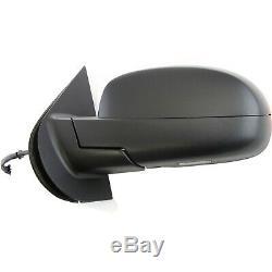 Power Mirror For 2007-2013 Chevrolet Silverado 1500 Left Power Fold With 2 Caps