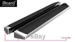 Premium 6 iBoard Side Steps Fit 07-19 Chevy Silverado/GMC Sierra Crew Cab