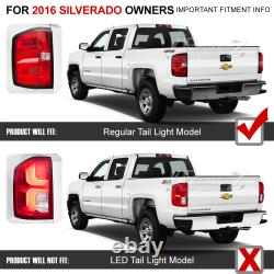 RED SMOKE OE-Style Tail Light Replacement Lamp Pair Fit 14-18 Chevy Silverado