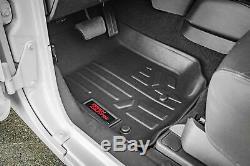 Rough Country Durable Floor Mats (fits) 1999-2006 Silverado Sierra Crew Cab Set