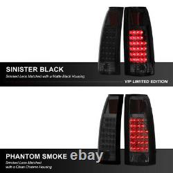 SINISTER BLACK 88-98 Chevy Silverado Suburban Tahoe Sierra CK LED Tail Lights
