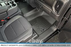 SMARTLINER Floor Liner Set for 2019-21 Silverado/Sierra 1500/2500/3500 Crew Cab