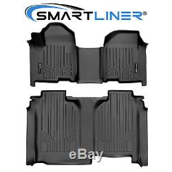 SMARTLINER Floor Mat Set for Vinyl Floor 19 Silverado/Sierra 1500 Crew Cab Bench