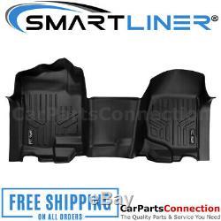 SMARTLINER Floor Mats Black For 07-2014 Silverado/Sierra CrewithExtended Cab A0296